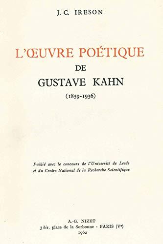 9782707800831: Oeuvre Poetique de G. Kahn.(l')