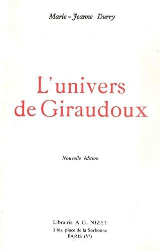 9782707803658: L'univers de Giraudoux