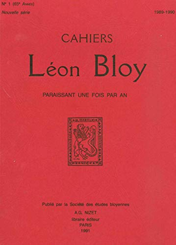 9782707811400: Cahiers Leon Bloy T1/1991 (French Edition)