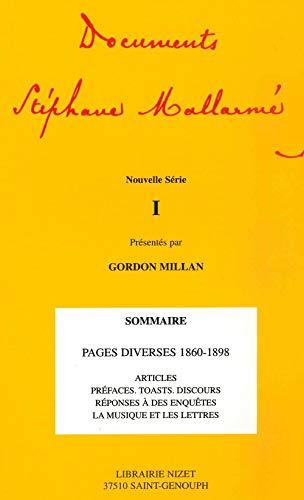 9782707812414: Documents Stephane Mallarme (French Edition)