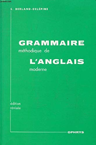 Occasion Grammaire Methodique Anglais