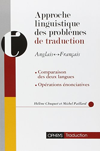 Approche Linguistique Des Problemes De Traduction