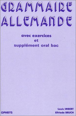 9782708005839: Grammaire allemande avec exerc (French Edition)