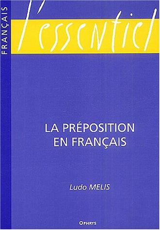 9782708010499: la preposition en francais