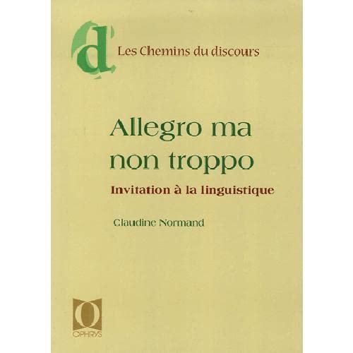 ALLEGRO MA NON TROPPO: NORMAND CLAUDINE