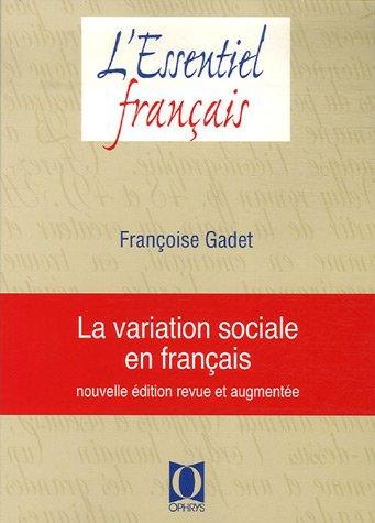 9782708011540: La variation sociale en français