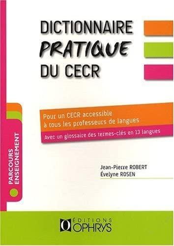 9782708012592: Dicionnaire pratqqqqqqqe du CECR