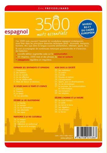 9782708014367: Espagnol: Les 3500 mots essentiels - Niveau B2-C1