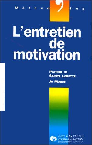 9782708116382: L'entretien de motivation