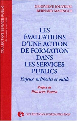 LES EVALUATIONS D'UNE ACTION DE FORMATION DANS: Geneviève Jouvenel et