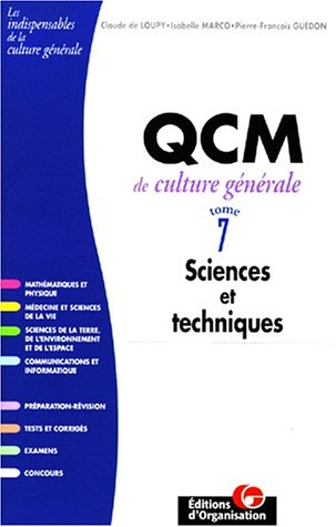 9782708122635: QCM de culture g�n�rale, tome 7, Sciences et techniques