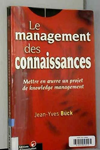 9782708122833: Le management des connaissances