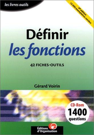 9782708126718: Définir les fonctions : 42 fiches-outils (1 livre + 1 CD-ROM)