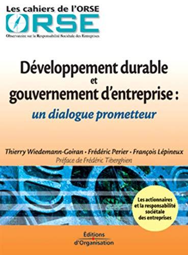 9782708128552: Développement durable et gouvernement d'entreprise : Un dialogue prometteur