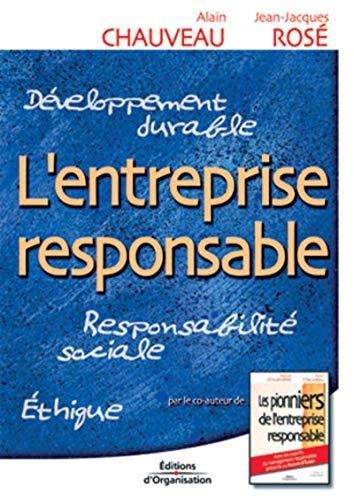 9782708128835: L'Entreprise responsable : Responsabilité sociale - Ethique