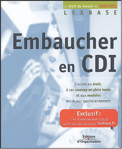 9782708132252: Embaucher en CDI