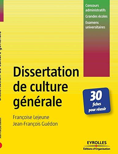 9782708137622: Dissertation de culture générale : 30 Fiches pour réussir