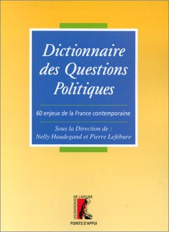 9782708235090: Dictionnaire des questions politiques