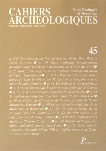 Cahiers archéologiques: Fin de l'Antiquité et Moyen