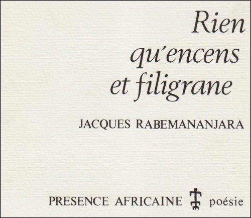 9782708704930: Rien qu'encens et filigrane (Poesie) (French Edition)