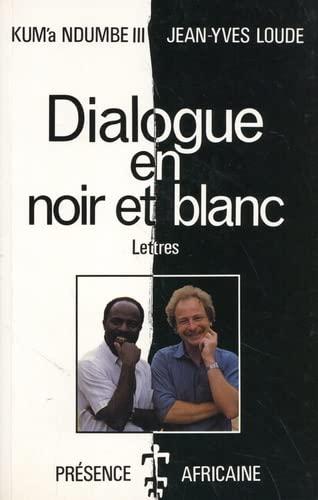 9782708705258: Dialogue en noir et blanc : Lettres