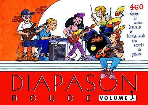 9782708880429: Diapason Rouge, volume 1 : Carnet de 460 chants de variété française et internationale avec accords de guitare