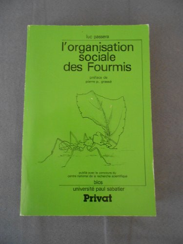9782708987050: L'Organisation sociale des fourmis