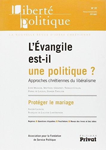 9782708998049: Liberte Politique N37 -Evangile Est-Il une Politique 05-2007