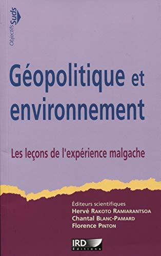 Géopolitique et environnement: Rakoto Ramiarantsoa Hervé