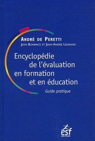 9782710117452: Encyclopédie de l'évaluation en formation et en éducation