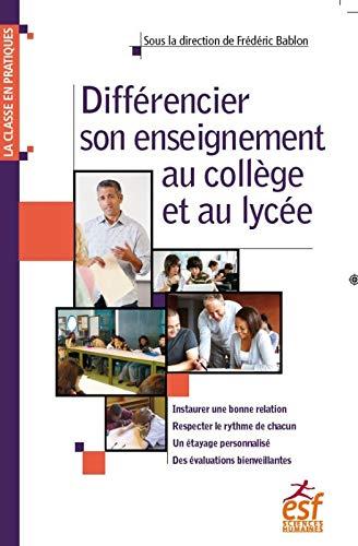 9782710138846: Différencier son enseignement au collège et au lycée