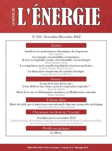 9782710810087: Nouvelle Revue de l'Energie 610 - Novemb