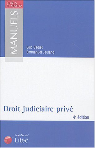 9782711003624: Manuel de droit judiciaire privé (ancienne édition)