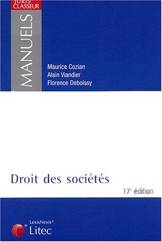 9782711003938: Droit des sociétés (ancienne édition)