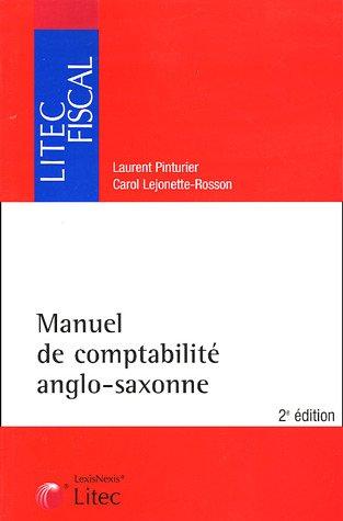 9782711005086: Manuel de comptabilit� anglo-saxonne