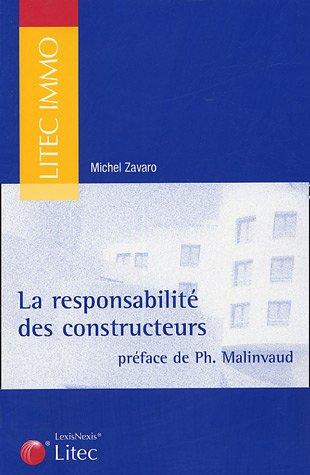 9782711005802: La responsabilité des constructeurs (ancienne édition)