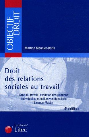 9782711006175: Droit des relations sociales au travail : Droit du travail : évolution des relations individuelles et collectives du salarié, Licence - Master (ancienne édition)
