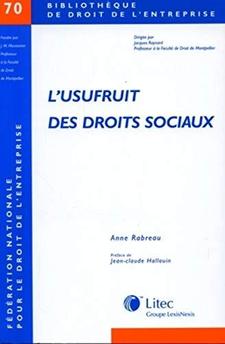 L'usufruit des droits sociaux (French Edition): LITEC