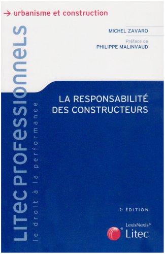 9782711008872: La responsabilité des constructeurs