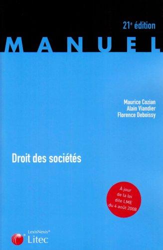9782711010639: Droit des sociétés (ancienne édition)