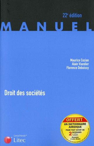 9782711011506: Droit des sociétés (ancienne édition)