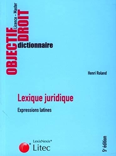 9782711011896: Lexique juridique : Expressions latines