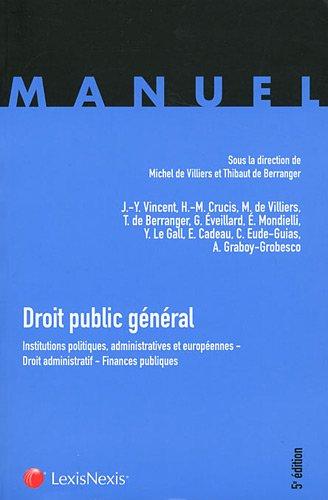 9782711015481: Droit public général (French Edition)