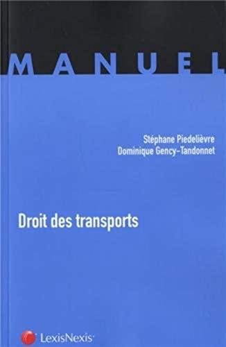 Droit des transports: Gency Tandonnet