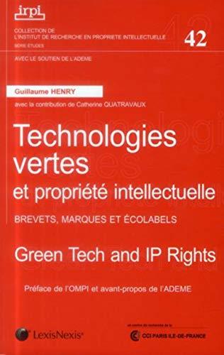 Technologies vertes et propriété intellectuelle: Henry Guillaume