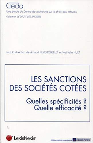 Les sanctions des societes cotees: Arnaud Reygrobellet, Cristina Mauro