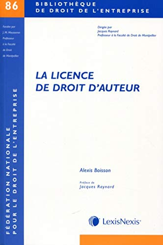 La licence de droit d'auteur: Alexis Boisson