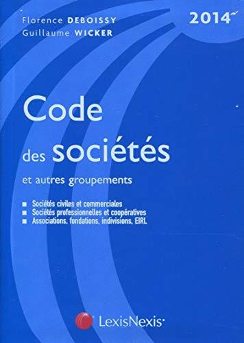 9782711019229: Code des sociétés et autres groupements (édition 2014)