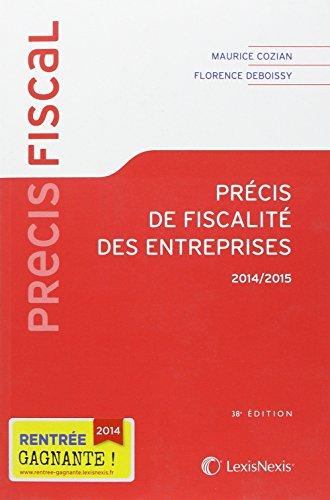 9782711019953: Précis de fiscalité des entreprises 2014-2015