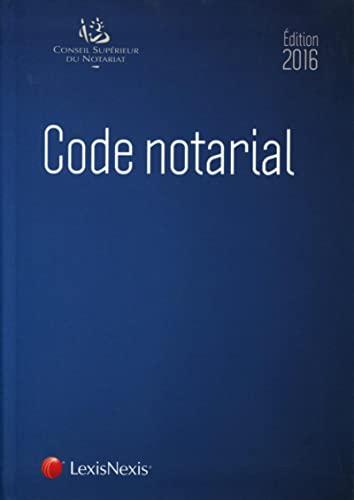 9782711022588: Code notarial 2016